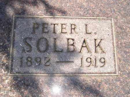 SOLBAK, PETER L. - Codington County, South Dakota | PETER L. SOLBAK - South Dakota Gravestone Photos