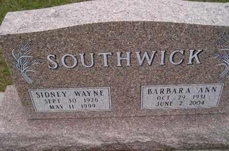 SOUTHWICK, SIDNEY WAYNE - Codington County, South Dakota | SIDNEY WAYNE SOUTHWICK - South Dakota Gravestone Photos
