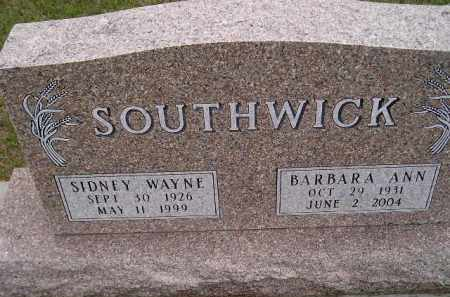 SOUTHWICK, SIDNEY WAYNE - Codington County, South Dakota | SIDNEY WAYNE SOUTHWICK - South Dakota Gravestone Photos