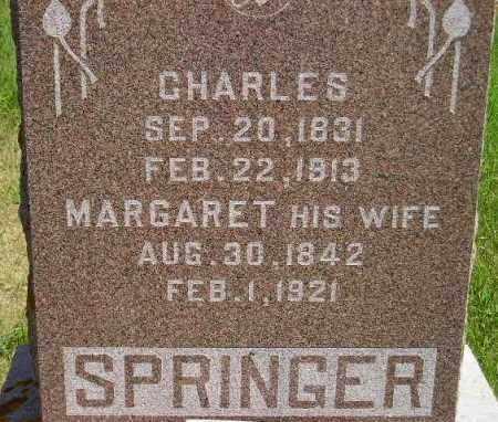 SPRINGER, CHARLES - Codington County, South Dakota | CHARLES SPRINGER - South Dakota Gravestone Photos