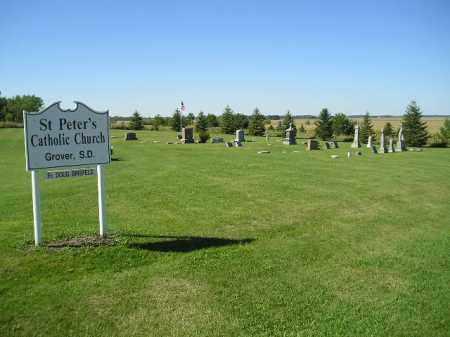 *ST. PETER'S CATHOLIC, WIDE VIEW - Codington County, South Dakota   WIDE VIEW *ST. PETER'S CATHOLIC - South Dakota Gravestone Photos