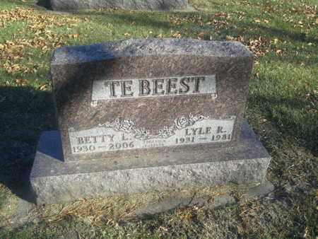 TEBEEST, BETTY L - Codington County, South Dakota | BETTY L TEBEEST - South Dakota Gravestone Photos