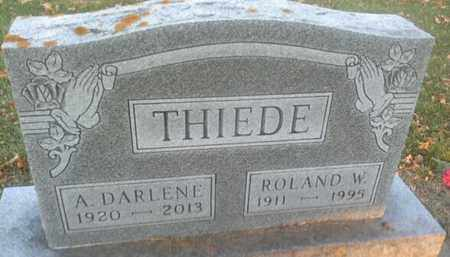THIEDE, RONALD W - Codington County, South Dakota | RONALD W THIEDE - South Dakota Gravestone Photos