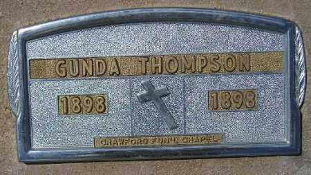 THOMPSON, GUNDA - Codington County, South Dakota   GUNDA THOMPSON - South Dakota Gravestone Photos