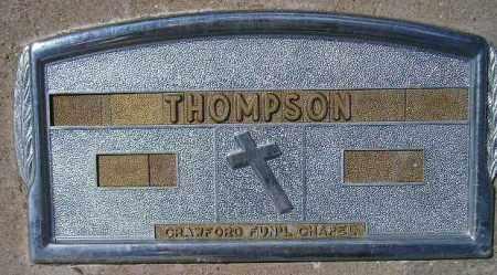 THOMPSON, UNKNOWN - Codington County, South Dakota   UNKNOWN THOMPSON - South Dakota Gravestone Photos