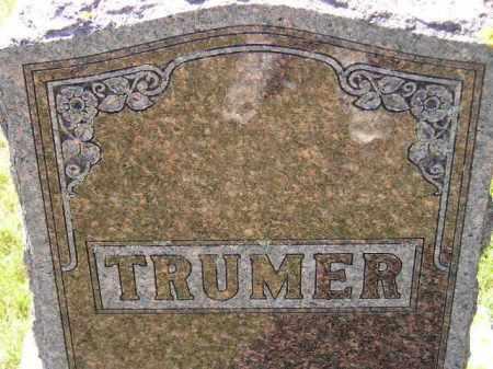TRUMER, FAMILY STONE - Codington County, South Dakota | FAMILY STONE TRUMER - South Dakota Gravestone Photos