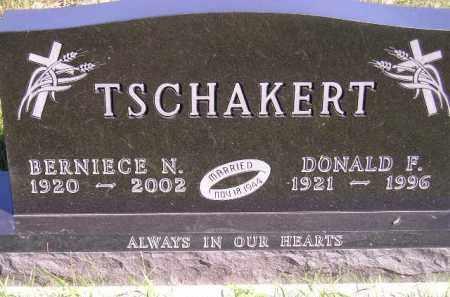TSCHAKERT, DONALD FRANCIS - Codington County, South Dakota | DONALD FRANCIS TSCHAKERT - South Dakota Gravestone Photos