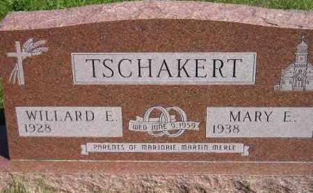 TSCHAKERT, WILLARD E. - Codington County, South Dakota | WILLARD E. TSCHAKERT - South Dakota Gravestone Photos