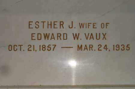 VAUX, ESTHER J. - Codington County, South Dakota   ESTHER J. VAUX - South Dakota Gravestone Photos