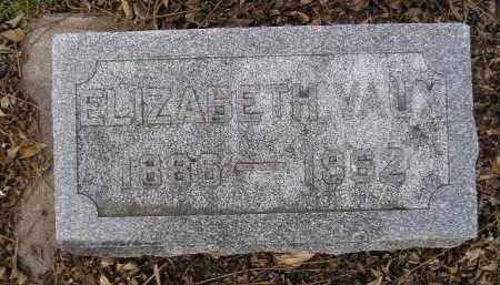 VAUX, ELIZABETH - Codington County, South Dakota | ELIZABETH VAUX - South Dakota Gravestone Photos