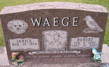 WAEGE, JANICE DARLENE - Codington County, South Dakota | JANICE DARLENE WAEGE - South Dakota Gravestone Photos