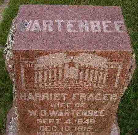 FRAGER WARTENBEE, HARRIET MARIE - Codington County, South Dakota | HARRIET MARIE FRAGER WARTENBEE - South Dakota Gravestone Photos
