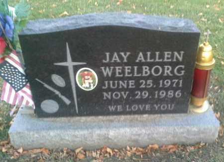 WEELBORG, JAY ALLEN - Codington County, South Dakota   JAY ALLEN WEELBORG - South Dakota Gravestone Photos