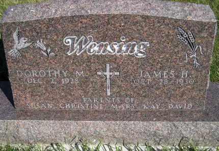 WENSING, JAMES H. - Codington County, South Dakota | JAMES H. WENSING - South Dakota Gravestone Photos