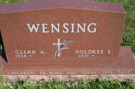 WENSING, GLENN A. - Codington County, South Dakota | GLENN A. WENSING - South Dakota Gravestone Photos