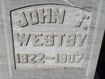 WESTBY, JOHN T. - Codington County, South Dakota | JOHN T. WESTBY - South Dakota Gravestone Photos