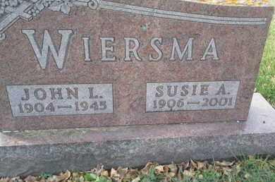 WIERSMA, SUSIE A - Codington County, South Dakota | SUSIE A WIERSMA - South Dakota Gravestone Photos