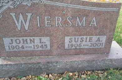 WIERSMA, JOHN L - Codington County, South Dakota | JOHN L WIERSMA - South Dakota Gravestone Photos