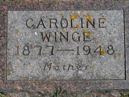 WINGE, CAROLINE - Codington County, South Dakota | CAROLINE WINGE - South Dakota Gravestone Photos
