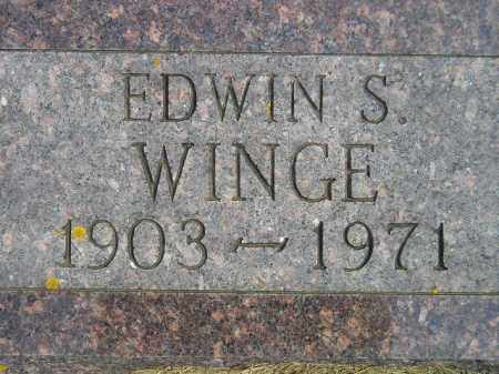 WINGE, EDWIN S. - Codington County, South Dakota   EDWIN S. WINGE - South Dakota Gravestone Photos
