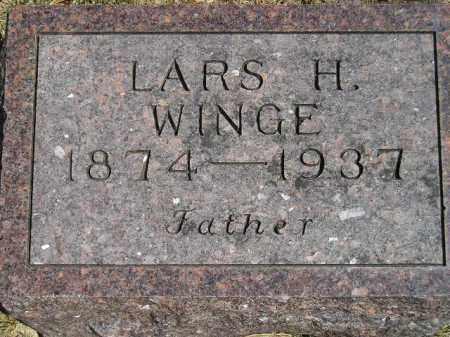 WINGE, LARS H. - Codington County, South Dakota | LARS H. WINGE - South Dakota Gravestone Photos