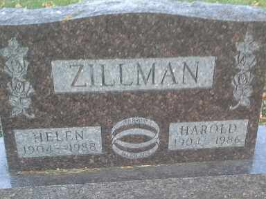 ZILLMAN, HAROLD - Codington County, South Dakota | HAROLD ZILLMAN - South Dakota Gravestone Photos