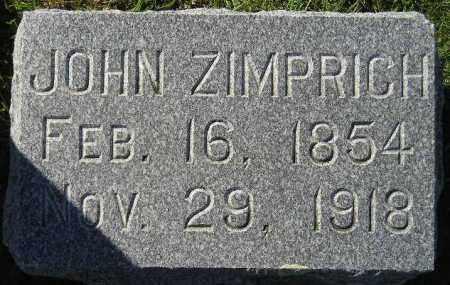 ZIMPRICH, JOHN - Codington County, South Dakota | JOHN ZIMPRICH - South Dakota Gravestone Photos