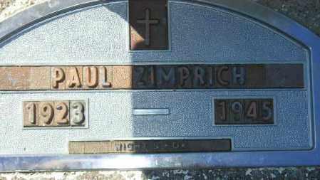 ZIMPRICH, PAUL - Codington County, South Dakota | PAUL ZIMPRICH - South Dakota Gravestone Photos