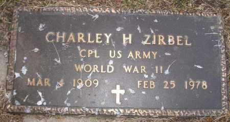ZIRBEL, CHARLEY H. (WW II) - Codington County, South Dakota | CHARLEY H. (WW II) ZIRBEL - South Dakota Gravestone Photos