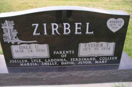 ZIRBEL, ESTHER T. - Codington County, South Dakota | ESTHER T. ZIRBEL - South Dakota Gravestone Photos
