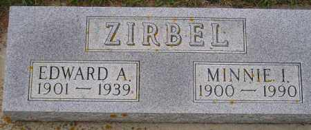 ZIRBEL, EDWARD ALBERT WILHELM - Codington County, South Dakota | EDWARD ALBERT WILHELM ZIRBEL - South Dakota Gravestone Photos
