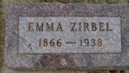 ZIRBEL, EMMA - Codington County, South Dakota | EMMA ZIRBEL - South Dakota Gravestone Photos