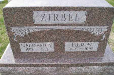 ZIRBEL, HILDA W. - Codington County, South Dakota   HILDA W. ZIRBEL - South Dakota Gravestone Photos