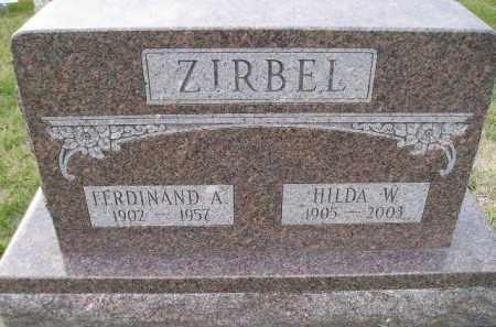 KAAZ ZIRBEL, HILDA W. - Codington County, South Dakota | HILDA W. KAAZ ZIRBEL - South Dakota Gravestone Photos