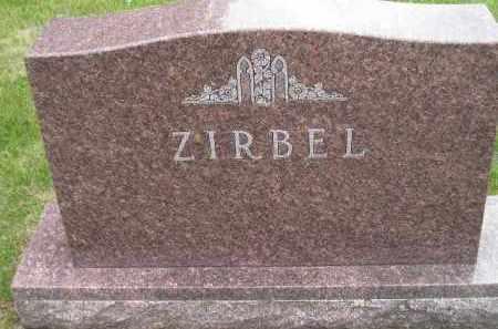 ZIRBEL, FAMILY STONE - Codington County, South Dakota   FAMILY STONE ZIRBEL - South Dakota Gravestone Photos