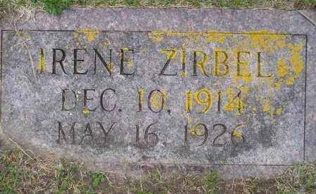 ZIRBEL, IRENE BERDINE - Codington County, South Dakota | IRENE BERDINE ZIRBEL - South Dakota Gravestone Photos