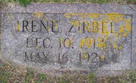 ZIRBEL, IRENE BERDINE - Codington County, South Dakota | IRENE BERDINE ZIRBEL - South Dakota Gravestone Photos