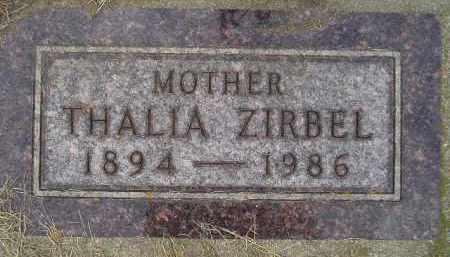 ZIRBEL, THALIA - Codington County, South Dakota | THALIA ZIRBEL - South Dakota Gravestone Photos
