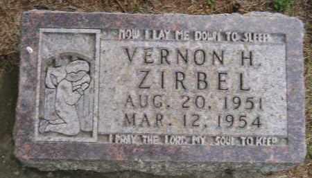 ZIRBEL, VERNON HARRY - Codington County, South Dakota   VERNON HARRY ZIRBEL - South Dakota Gravestone Photos