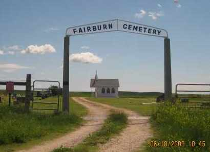 *FAIRBURN CEMETERY, VIEW OF GATE AND CHAPEL - Custer County, South Dakota | VIEW OF GATE AND CHAPEL *FAIRBURN CEMETERY - South Dakota Gravestone Photos