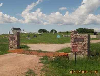 *HIGHLAND PARK CEMETERY, VIEW OF FRONT GATE - Custer County, South Dakota | VIEW OF FRONT GATE *HIGHLAND PARK CEMETERY - South Dakota Gravestone Photos