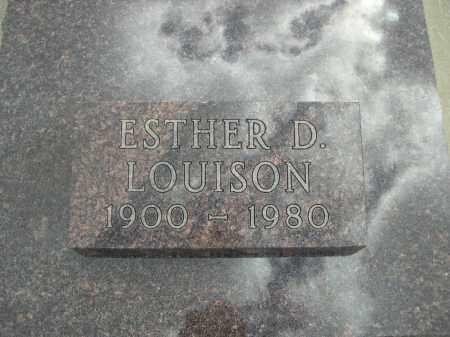 LOUISON, ESTHER D. - Custer County, South Dakota   ESTHER D. LOUISON - South Dakota Gravestone Photos