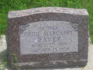 RAVER, CECIL  MARGARET - Custer County, South Dakota | CECIL  MARGARET RAVER - South Dakota Gravestone Photos