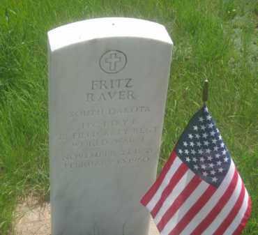 RAVER, FRITZ - Custer County, South Dakota | FRITZ RAVER - South Dakota Gravestone Photos