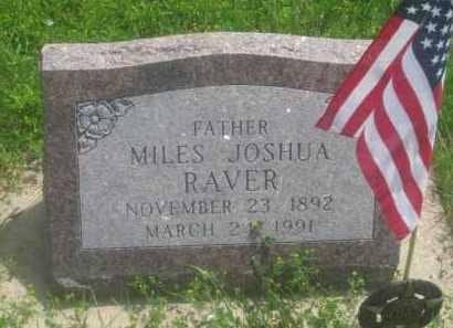 RAVER, MILES  JOSHUA - Custer County, South Dakota | MILES  JOSHUA RAVER - South Dakota Gravestone Photos