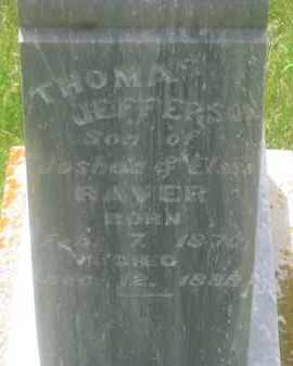 RAVER, THOMAS  JEFFERSON - Custer County, South Dakota | THOMAS  JEFFERSON RAVER - South Dakota Gravestone Photos