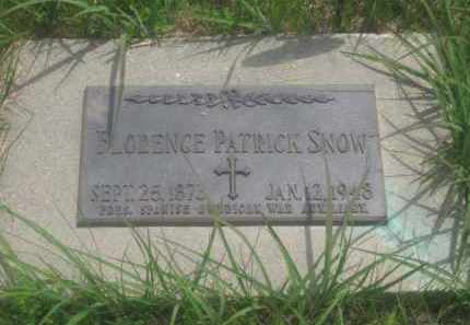 PATRICK SNOW, FLORENCE - Custer County, South Dakota | FLORENCE PATRICK SNOW - South Dakota Gravestone Photos