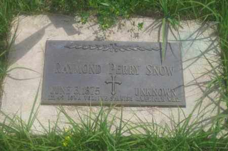 SNOW, RAYMOND PERRY - Custer County, South Dakota | RAYMOND PERRY SNOW - South Dakota Gravestone Photos