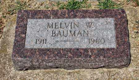 BAUMAN, MELVIN - Davison County, South Dakota | MELVIN BAUMAN - South Dakota Gravestone Photos