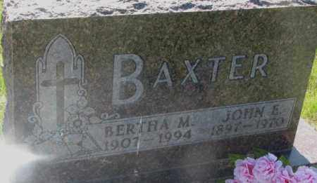 BAXTER, JOHN E. - Davison County, South Dakota | JOHN E. BAXTER - South Dakota Gravestone Photos